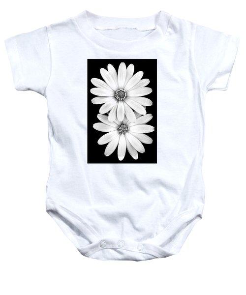 Two Flowers Baby Onesie