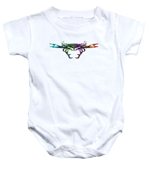 Two Sides - Duality Crab Art Baby Onesie