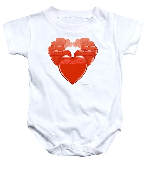 Two Hearts Become One Baby Onesie