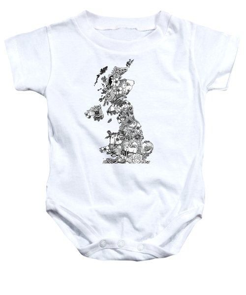 Uk Map Baby Onesie