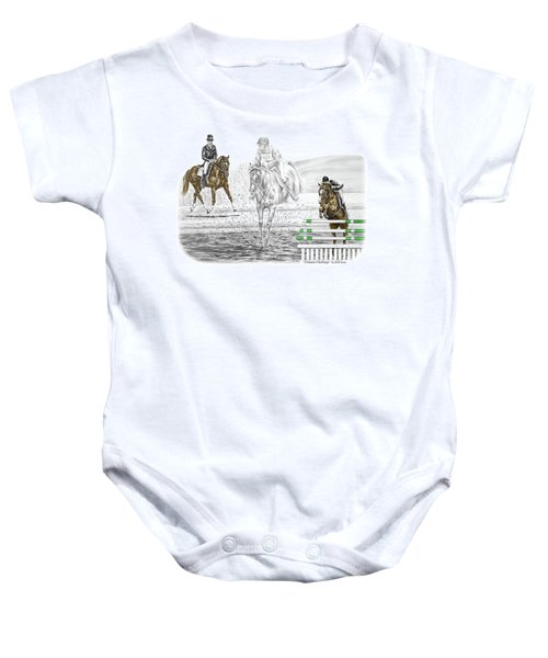 Ultimate Challenge - Horse Eventing Print Color Tinted Baby Onesie
