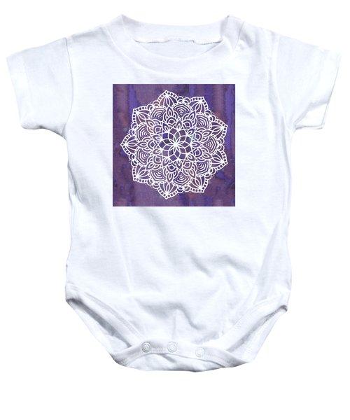 Ultraviolet Mandala Baby Onesie