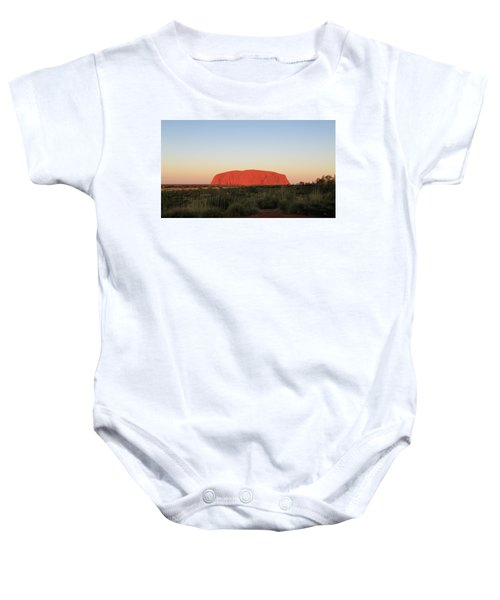Uluru At Sunset Baby Onesie