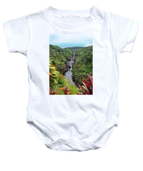 Umauma Falls Hawaii Baby Onesie