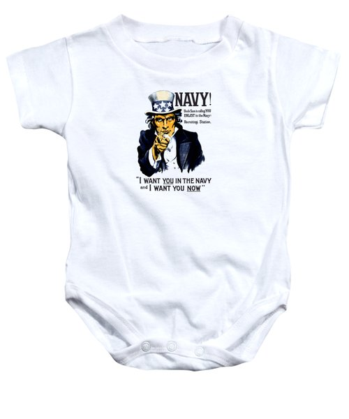 Uncle Sam Wants You In The Navy Baby Onesie