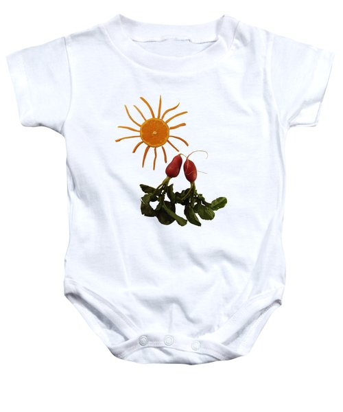 Under The Tangerine Sun - On White Baby Onesie