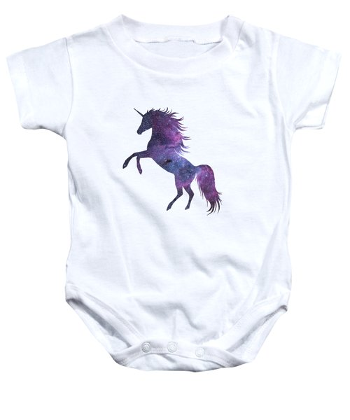 Unicorn In Space-transparent Background Baby Onesie