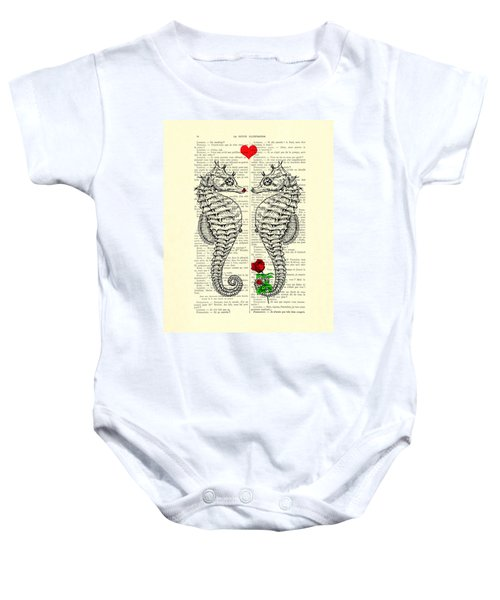 Unique Valentines Day Gift Ideas, Seahorses Baby Onesie