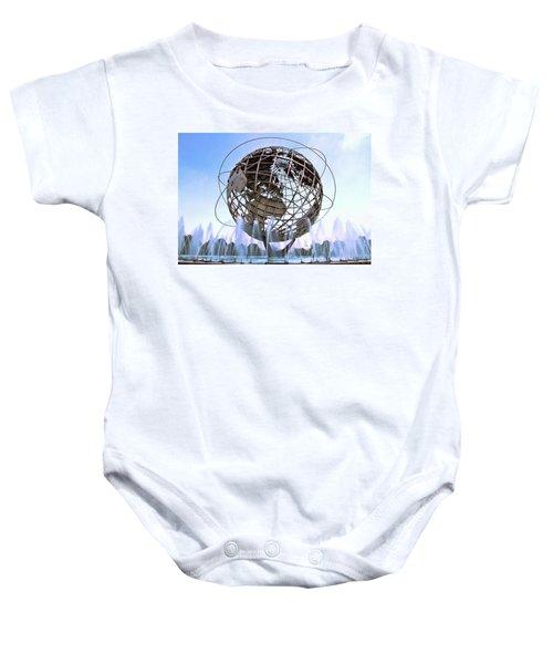 Unisphere With Fountains Baby Onesie