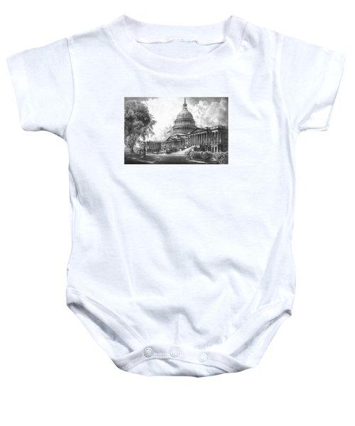 United States Capitol Building Baby Onesie
