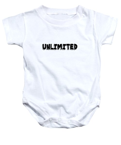 Unlimited - Art Print Poster, One Word Quotes  Baby Onesie