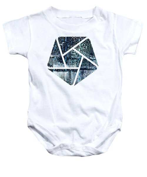 Urban-art Nyc Brooklyn Bridge I Baby Onesie by Melanie Viola