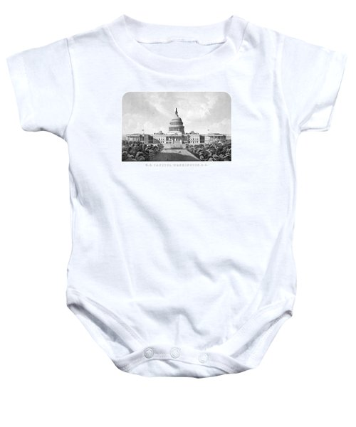 Us Capitol Building - Washington Dc Baby Onesie by War Is Hell Store