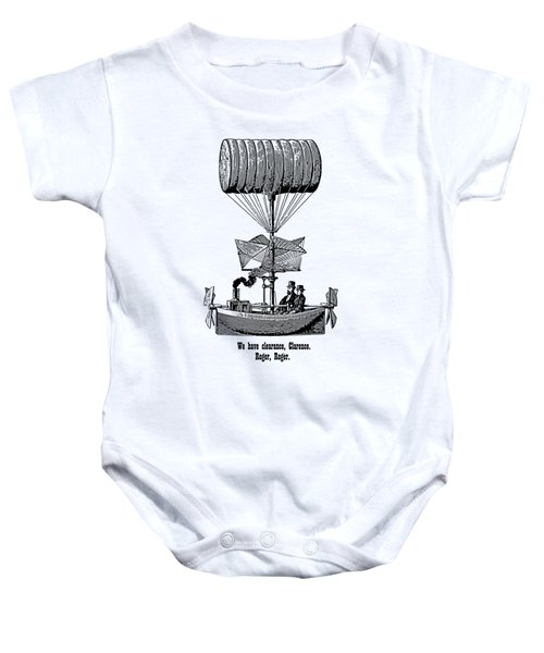 Vector Victor Vintage Airship Baby Onesie