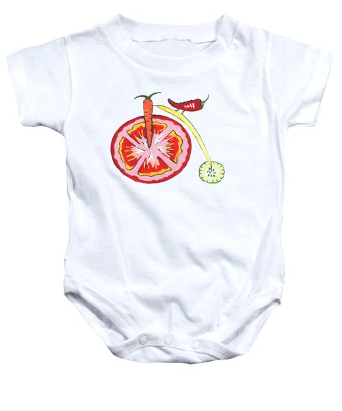 Veggie Bike - Health Baby Onesie