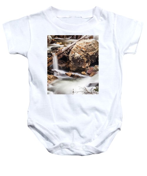 Velvet Falls - Rocky Mountain Stream Baby Onesie