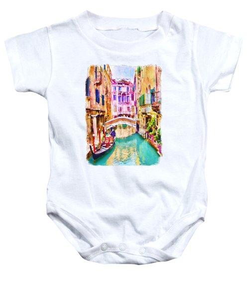 Venice Canal 2 Baby Onesie
