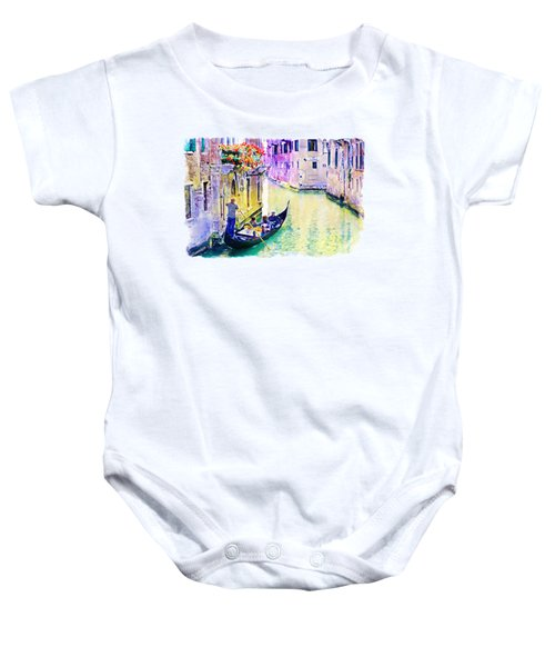 Venice Canal Baby Onesie by Marian Voicu