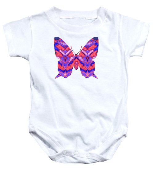 Vibrant Butterfly  Baby Onesie