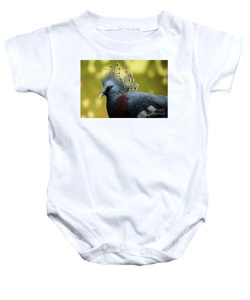 Victoria Crowned Pigeon Baby Onesie