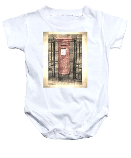 Victorian Red Post Box Baby Onesie