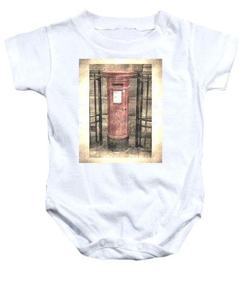 Victorian Red Post Box Baby Onesie