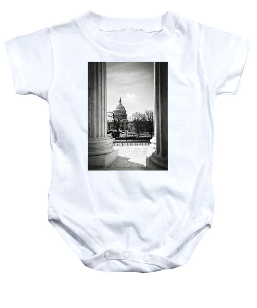 View Of Capitol Hill Through The Supreme Court Baby Onesie
