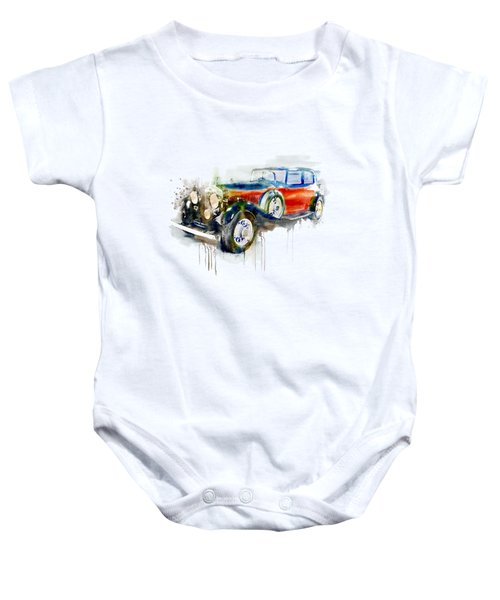Vintage Automobile Baby Onesie