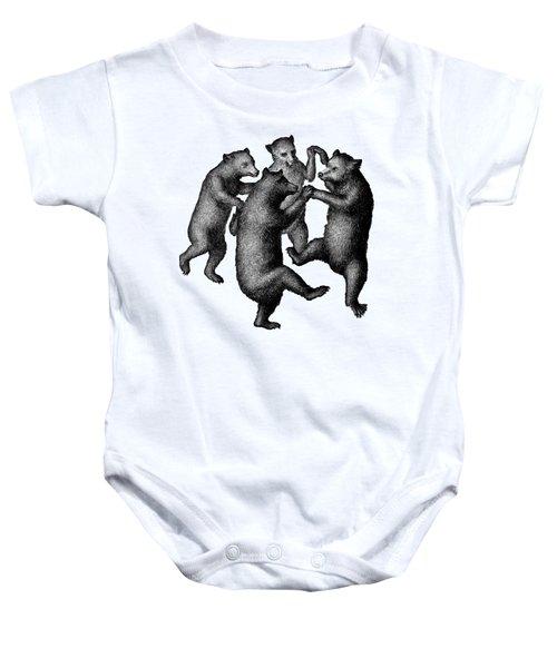 Vintage Dancing Bears Baby Onesie