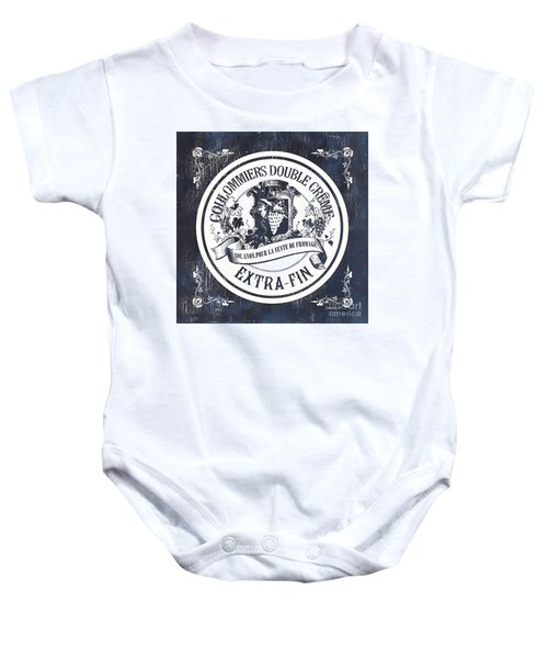 Vintage French Cheese Label 2 Baby Onesie