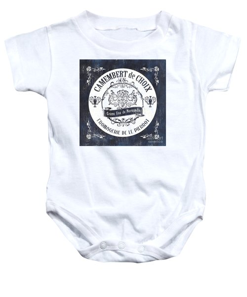 Vintage French Cheese Label 3 Baby Onesie