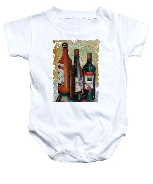 Vintage Georgian Wine Fresco Baby Onesie by Lena  Owens OLena Art