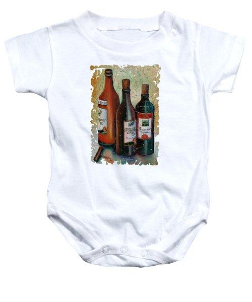 Vintage Georgian Wine Fresco Baby Onesie