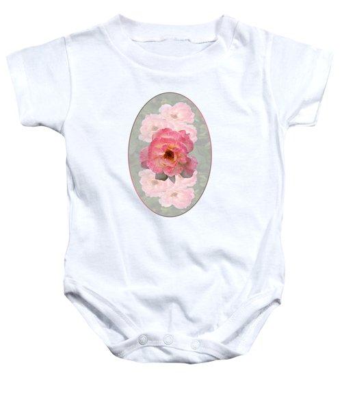 Vintage Rose Vertical Baby Onesie