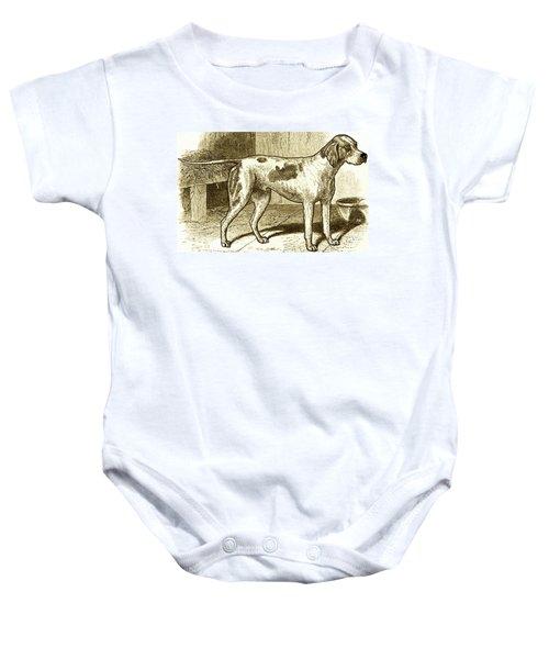 Vintage Sepia German Shorthaired Pointer Baby Onesie