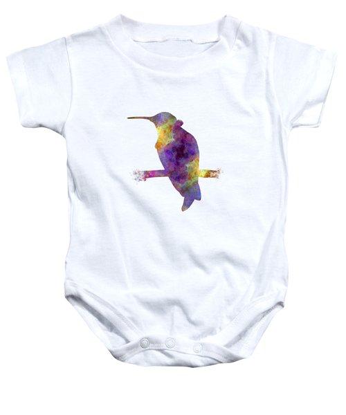 Hummingbird 01 In Watercolor Baby Onesie