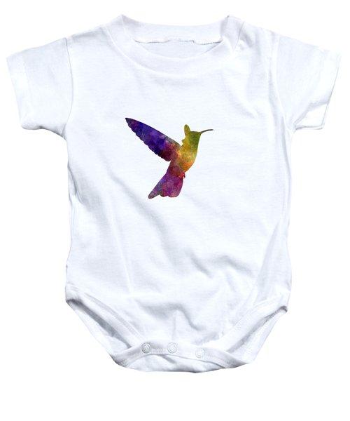 Hummingbird 02 In Watercolor Baby Onesie