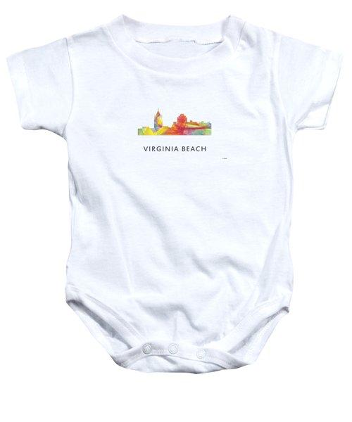 Virginia Beach  Virginia Skyline Baby Onesie by Marlene Watson