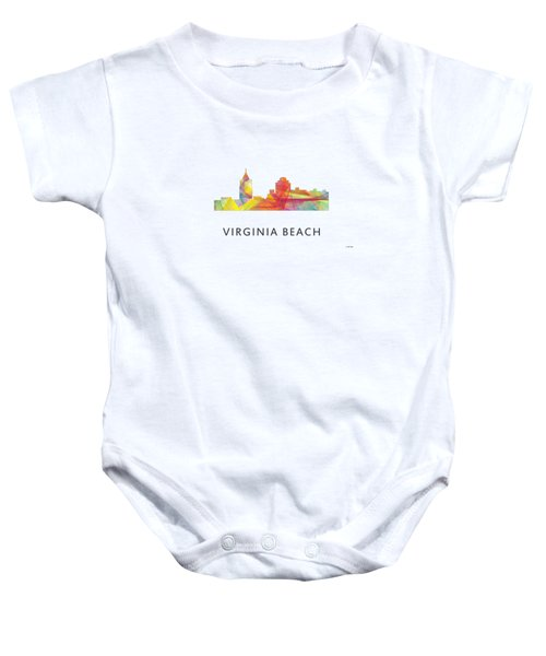 Virginia Beach  Virginia Skyline Baby Onesie