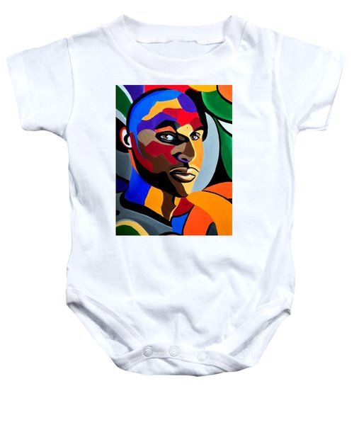 Visionaire Male Abstract Portrait Painting Chromatic Abstract Artwork Baby Onesie