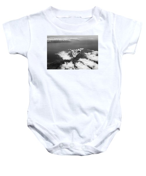 Vulcan Over South Wales Black And White Baby Onesie