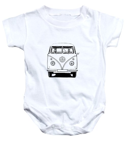 Vw Bus T-shirt Baby Onesie by Edward Fielding