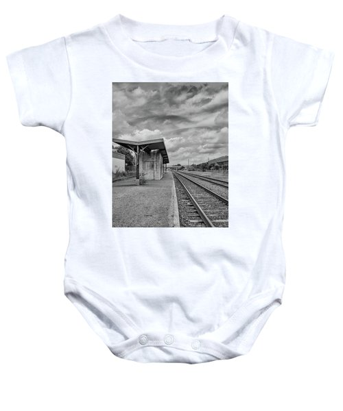 Waiting For The Train Baby Onesie
