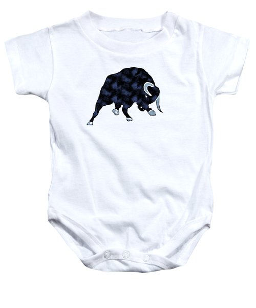 Wall Street Bull Market Series 1 T-shirt Baby Onesie by Edward Fielding