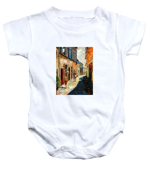 Warmth Of A Barcelona Street Baby Onesie by Andre Dluhos