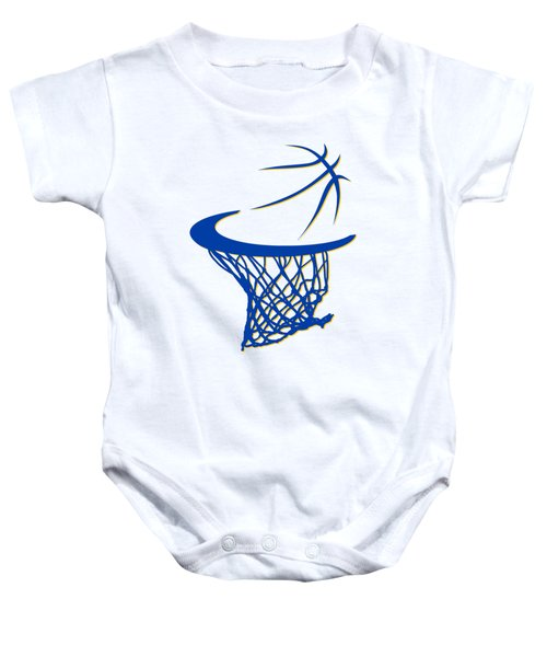 Warriors Basketball Hoop Baby Onesie
