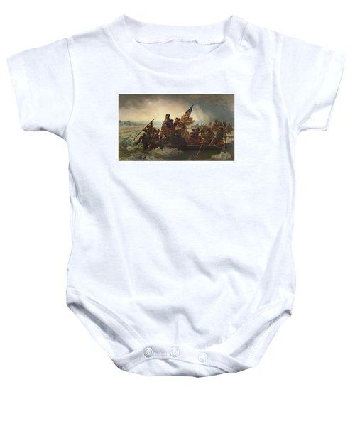 Washington Crossing The Delaware Baby Onesie