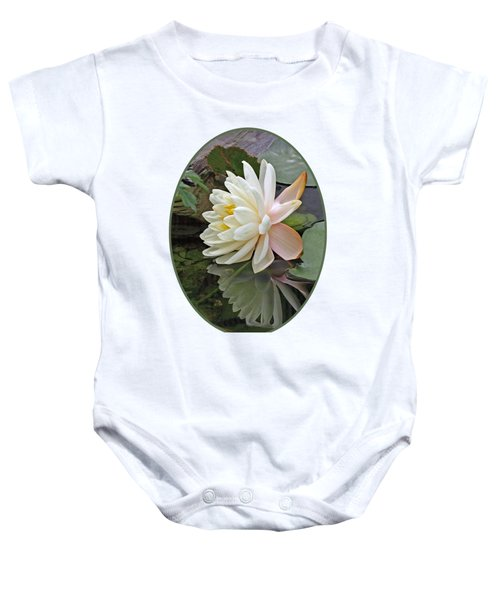 Water Lily Reflections Baby Onesie by Gill Billington