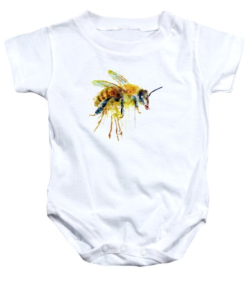 Watercolor Bee Baby Onesie by Marian Voicu