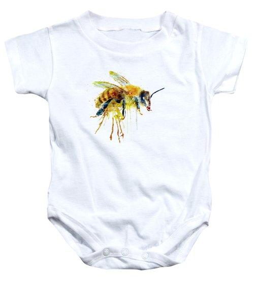 Watercolor Bee Baby Onesie